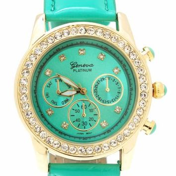 embellished-patent-watch MINTGOLD - GoJane.com