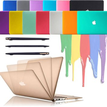 iClover Rubberized Matte Hard Shell Laptop Case Cover with High Clear Screen Flim For Apple MacBook Air Pro Retina 11 13 15