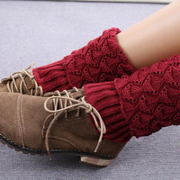 Cupshe Snow Knitting Boot Cuffs