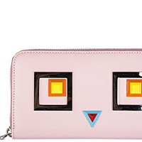 Fendi women's wallet leather coin case holder purse card bifold continental zip