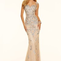 Paparazzi by Mori Lee 98057 Sequin Illusion Lace Prom Gown