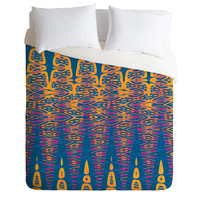 Elisabeth Fredriksson Sunset By The Sea Duvet Cover