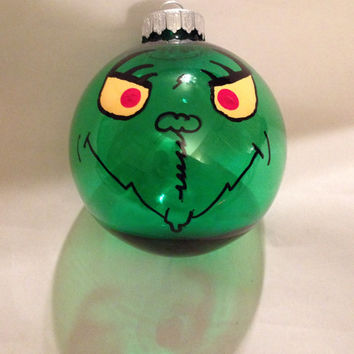 Shatterproof Grinch Bulb Ornament by langanfamilyfinds on Etsy
