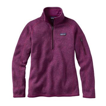 Patagonia Women's Better Sweater Quarter Zip Pullover- Violet Red