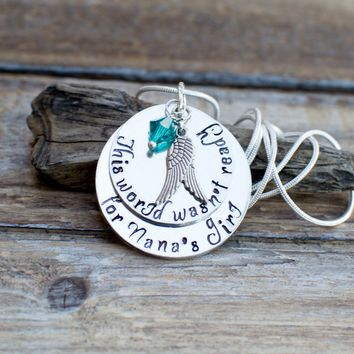 Granddaughter Memorial Jewelry, Granddaughter Memorial Necklace, My Angel Granddaughter, Bereavement, Loss of Granddaughter, Sympathy Gift