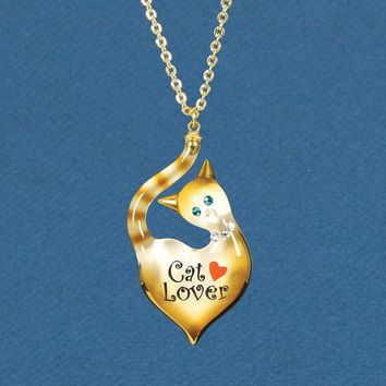 Glass Baron Cat Lover Necklace