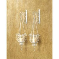 Bedazzling Pendant Candle Sconce Duo