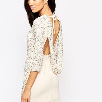 Maya Petite Sequin Body-Conscious Dress With Cowl Back