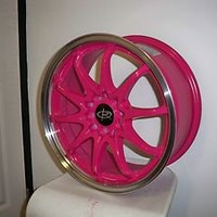 16 ROTA FIGHTER PINK RIMS WHEELS 16x7 +40 5x114.3 CIVIC RSX ECLIPSE XB MAZDA3