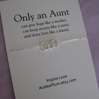 AUNT NECKLACE. Aunt Sterling Silver Gift. Gift for Aunt. For Aunt Sterling Silver Necklace