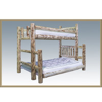 Montana Woodworks Rustic Log Twin/Full Bunk Bed