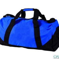 Neon Blue and Black Duffle Sports Bag - Oasis Bags