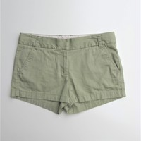 "Chino Shorts J CREW Broken-in Army Green 3"" Chino Shorts 6"