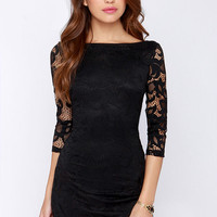 LULUS Exclusive Royal Flush Black Dress