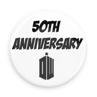 Doctor Who; 50th Anniversary Pin