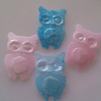 Edible Wafer Paper Owl Cupcake Toppers