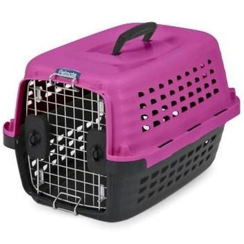 """Petmate Compass Fashion Pet Kennel Carrier Pink Sz: X-Small 19"""""""