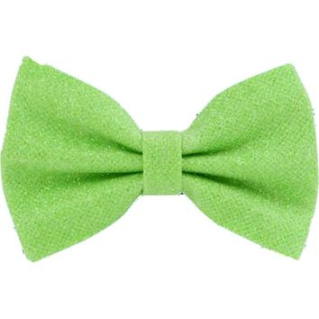 Glitter Hair Bow, Lime Green