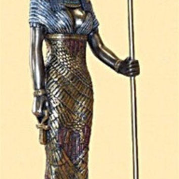 Hathor Egyptian Goddess Statue, Bronze - T1504