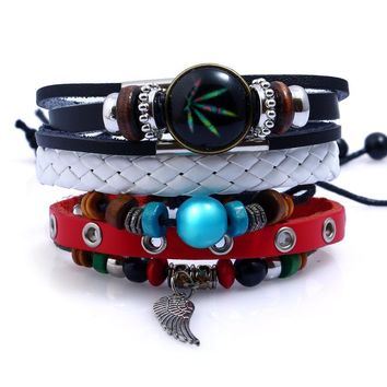 Awesome Shiny Gift Great Deal New Arrival Stylish Hot Sale Leather Leaf Bracelet [250989084701]