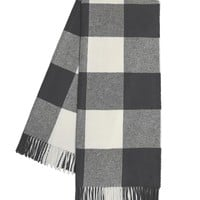 Buffalo Check Throw | Charcoal