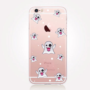 Transparent Ghosts Halloween Phone Case - Transparent Case - Clear Case - Transparent iPhone 6 - Transparent iPhone 5 Samsung S7 - iPhone SE
