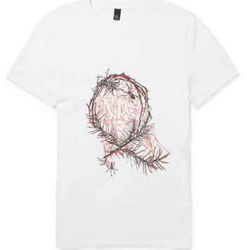 McQ Alexander McQueen - Printed Cotton-Jersey T-Shirt | MR PORTER