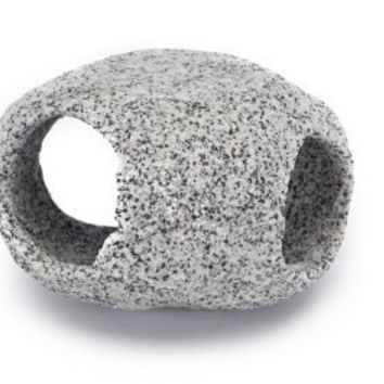 "AQUATICS - ORNAMENTS/DECOR - STONE HIDEAWAY 4"" 1 PIECE - DECO REPLICA - PENN PLAX INC - UPC: 30172078552 - DEPT: AQUATIC PRODUCTS"