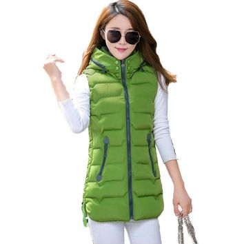 Spring And Autumn Women Sleeveless Jacket