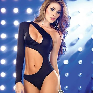 Black Cross Band Bodysuit : Cute Sexy Rave One Pieces and Costumes
