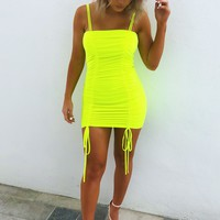 The Perfect Fit Dress: Highlighter Yellow