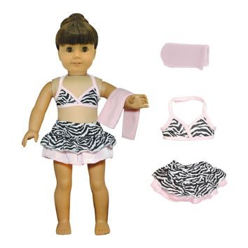 "Doll Clothes Fits American Girl 18"" Inch Outfit Bikini Swimsuit"