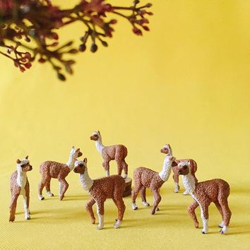 10Pcs Alpaca miniatures