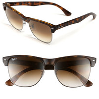 Women's Ray-Ban 'Highstreet' 57mm Sunglasses - Demi Havana/ Brown Gradient