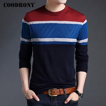 Men Sweaters And Pullovers New Arrival Winter Casual Striped O-Neck Sweater Men Cashmere Wool Pullover