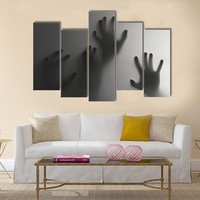 Silhouette Of A Hand Multi Panel Canvas Wall Art