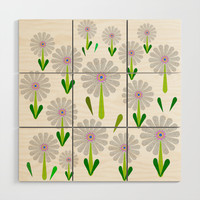 zappwaits flower Wood Wall Art by netzauge