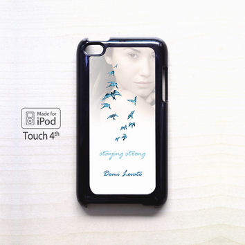 Demi Lovato Staying Strong for apple case iPod 4/iPod 5