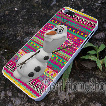 olaf disney frozen on aztec case for iPhone 4/4s/5/5s/5c/6/6+ case,iPod Touch 5th Case,Samsung Galaxy s3/s4/s5/s6Case, Sony Xperia Z3/4 case, LG G2/G3 case, HTC One M7/M8 case galaxy