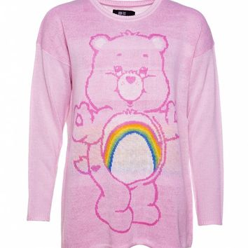 Women's Care Bears Cheer Bear Oversized Slouch Sweater from Iron Fist