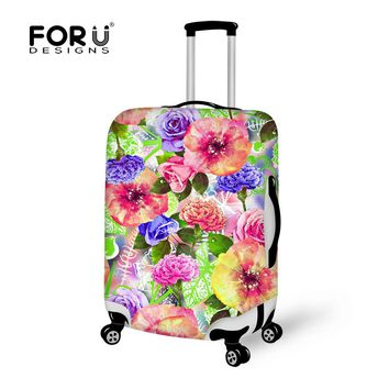FORUDESIGNS Brand Travel Trolley Luggage Bag Protective Cover 3D Flower Elastic Rain Dust Covers For 18-30 inch Trunk Suitcase