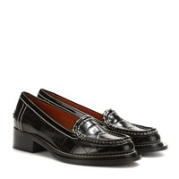 Penny embossed leather loafers