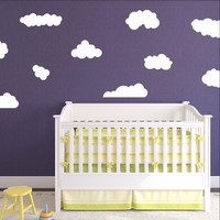 Clouds Set of 10 Kids Room Nursery Wall Decals 22398