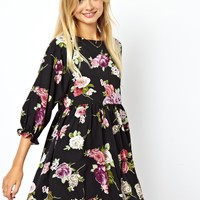 ASOS Winter Floral Smock Dress at asos.com