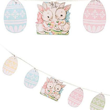 Vintage Style Easter Sweet Bunnies Garland