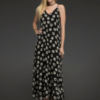 Daisy Print Maxi Dress