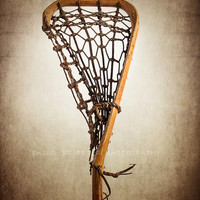 Vintage Lacrosse Stick Upright No.2  8x10 prints , Decorating Ideas, Wall Decor, Wall Art,  Sports Decor, Vintage La