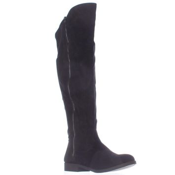SC35 Hadleyy Wide Calf Knee High Boots, Black, 7 US