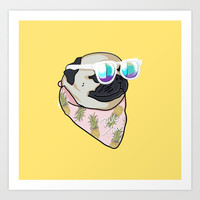 Pug Time Art Print by lostanaw
