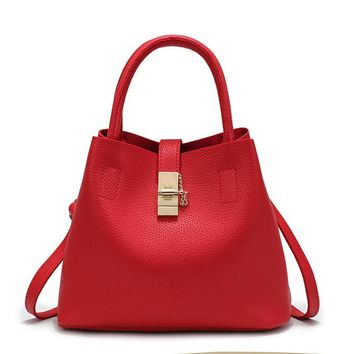 Soft Leather Bucket tote bags for women